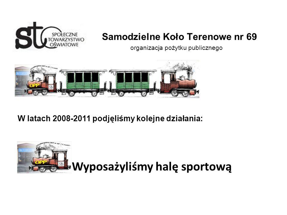 Samodzielne Koło Terenowe nr 69 organizacja pożytku publicznego W latach 2008-2011 podjęliśmy kolejne działania: Wyposażyliśmy halę sportową