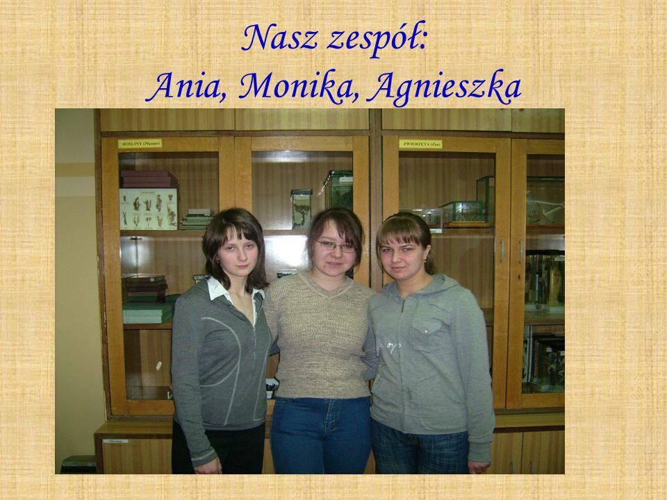 Nazywamy się Ania, Agnieszka i Monika.