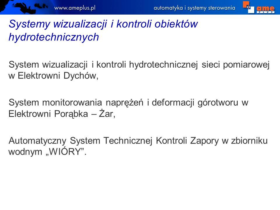 System wizualizacji i kontroli hydrotechnicznej sieci pomiarowej w Elektrowni Dychów, System monitorowania naprężeń i deformacji górotworu w Elektrown