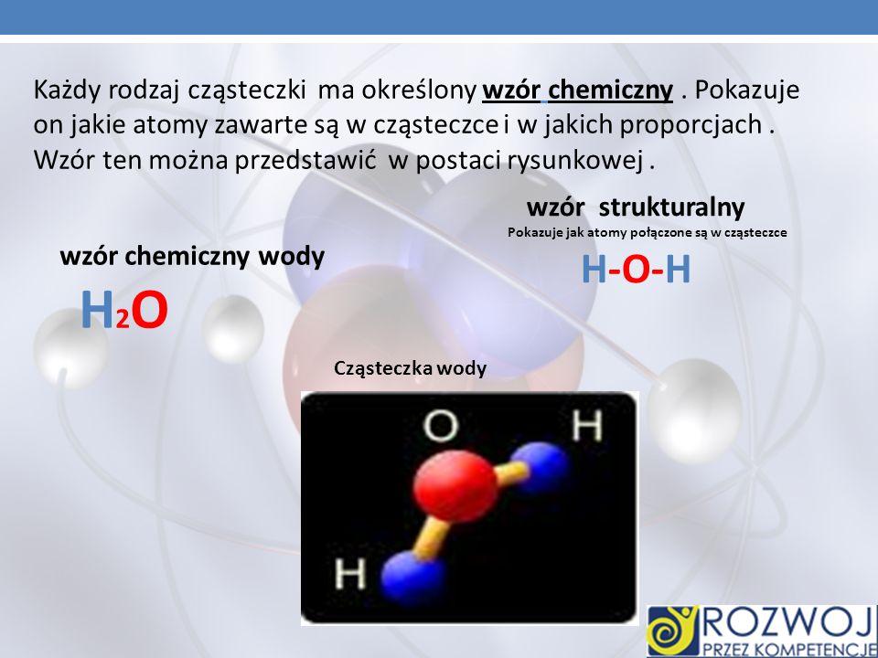 Cząsteczka to trwałe połączenie co najmniej dwóch atomów.