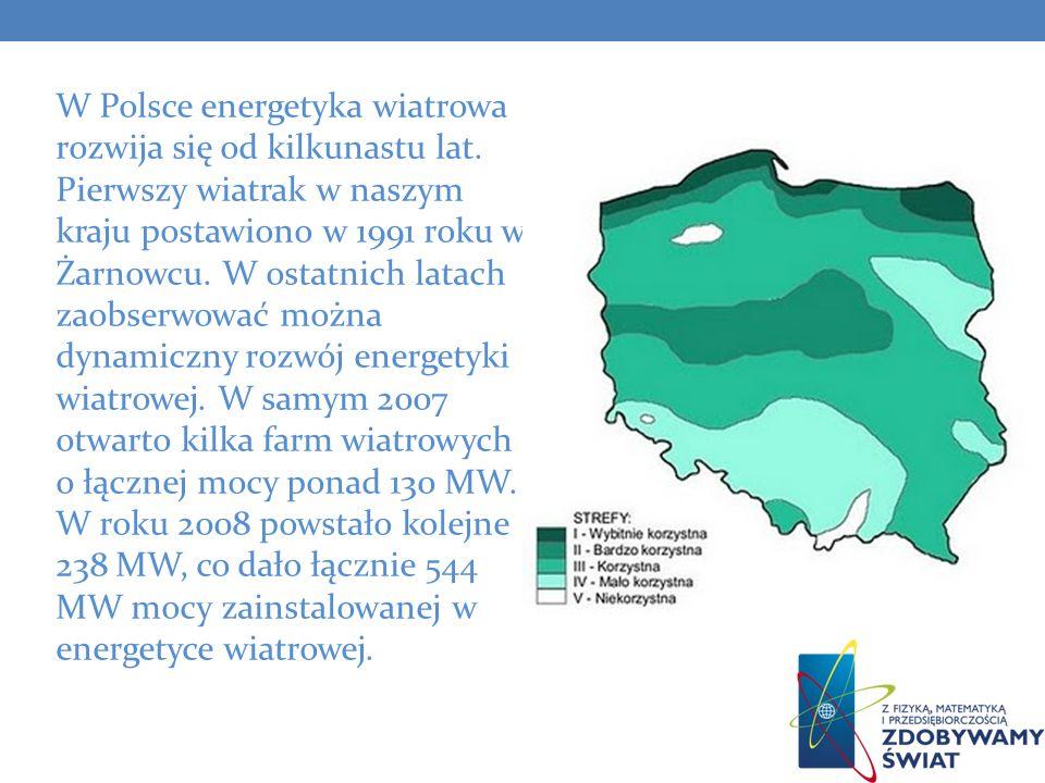 W Polsce energetyka wiatrowa rozwija się od kilkunastu lat. Pierwszy wiatrak w naszym kraju postawiono w 1991 roku w Żarnowcu. W ostatnich latach zaob