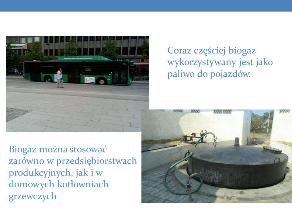 Biogaz można stosować zarówno w przedsiębiorstwach produkcyjnych, jak i w domowych kotłowniach grzewczych Coraz częściej biogaz wykorzystywany jest ja