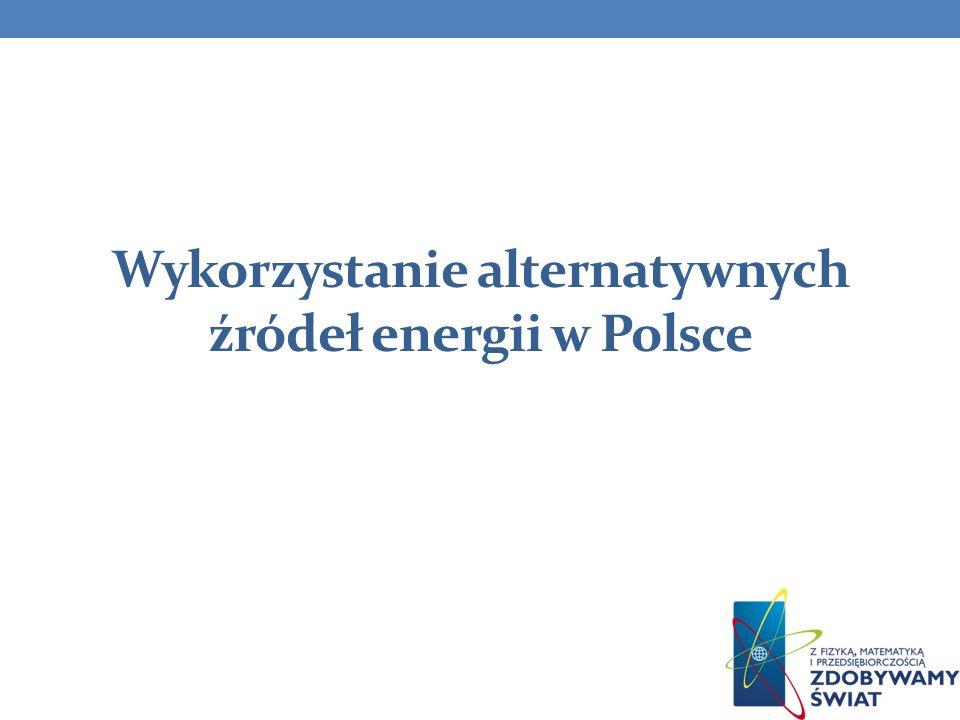 Wykorzystanie alternatywnych źródeł energii w Polsce