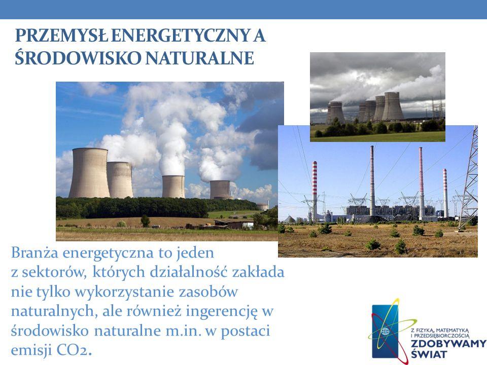 PRZEMYSŁ ENERGETYCZNY A ŚRODOWISKO NATURALNE Branża energetyczna to jeden z sektorów, których działalność zakłada nie tylko wykorzystanie zasobów natu