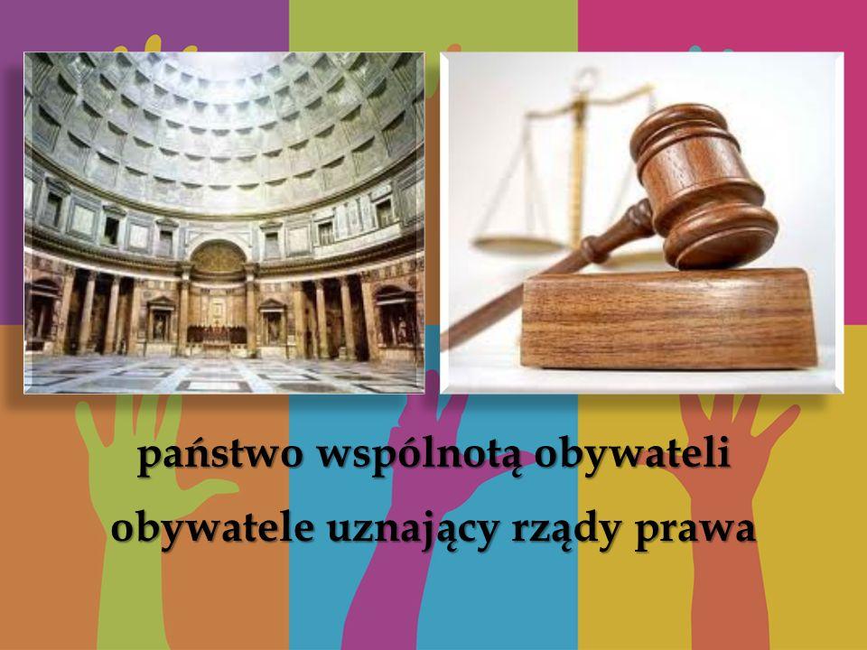 obywatele uznający rządy prawa państwo wspólnotą obywateli