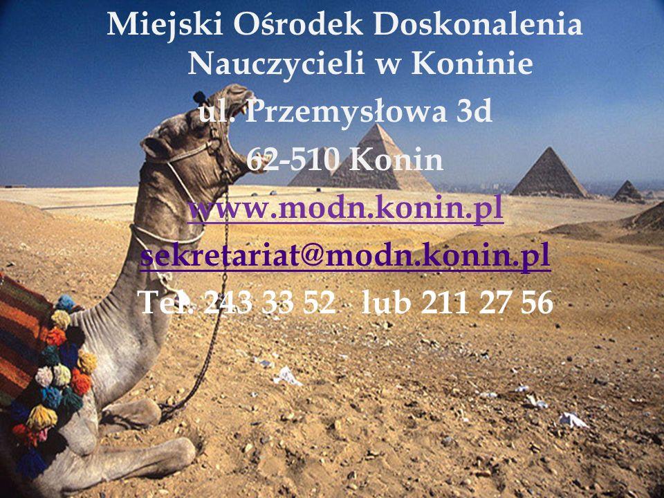 Miejski Ośrodek Doskonalenia Nauczycieli w Koninie ul. Przemysłowa 3d 62-510 Konin www.modn.konin.pl sekretariat@modn.konin.pl Tel. 243 33 52 lub 211