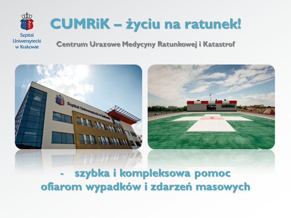 CUMRiK – życiu na ratunek! Centrum Urazowe Medycyny Ratunkowej i Katastrof -szybka i kompleksowa pomoc ofiarom wypadków i zdarzeń masowych