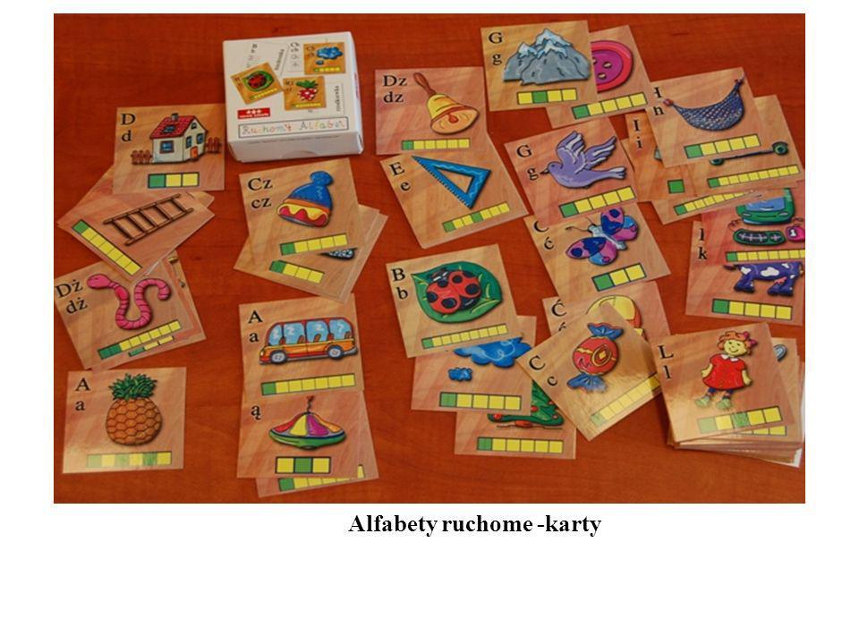 Alfabety ruchome -karty
