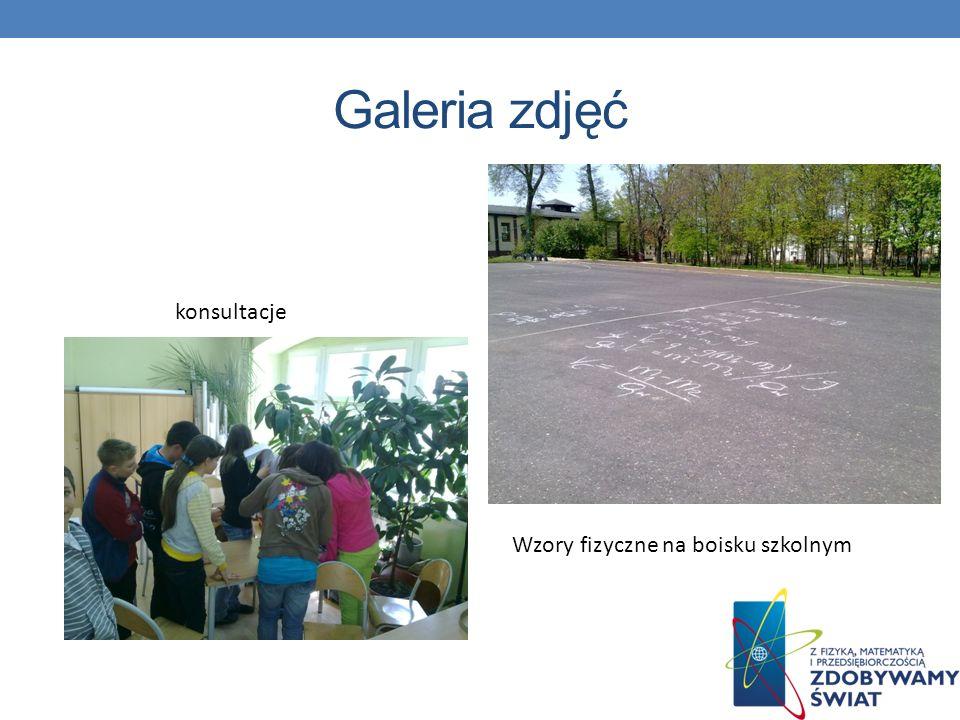 konsultacje Wzory fizyczne na boisku szkolnym