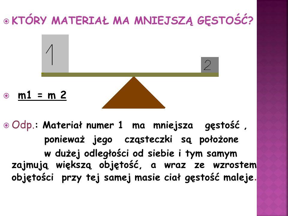 Gęstość: q = m / V ____________ Ciśnienie : p = F/S ____________ Parcie : F = p S ____________ Prędkość : V = S / t ____________ Ciężar ciała : F = mg