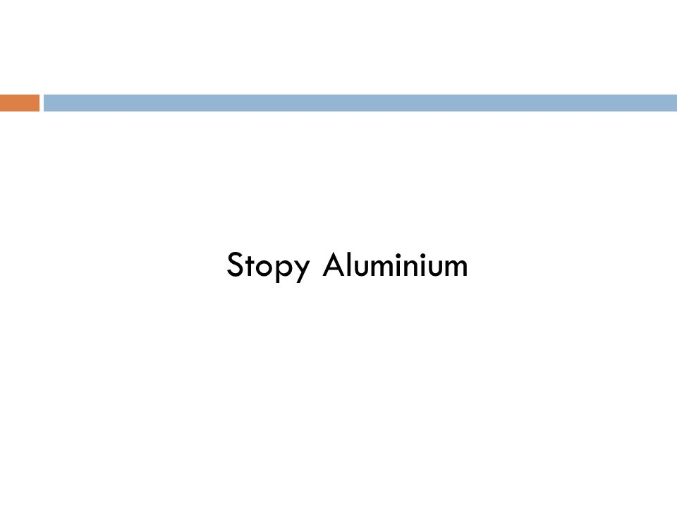 Stopy Aluminium