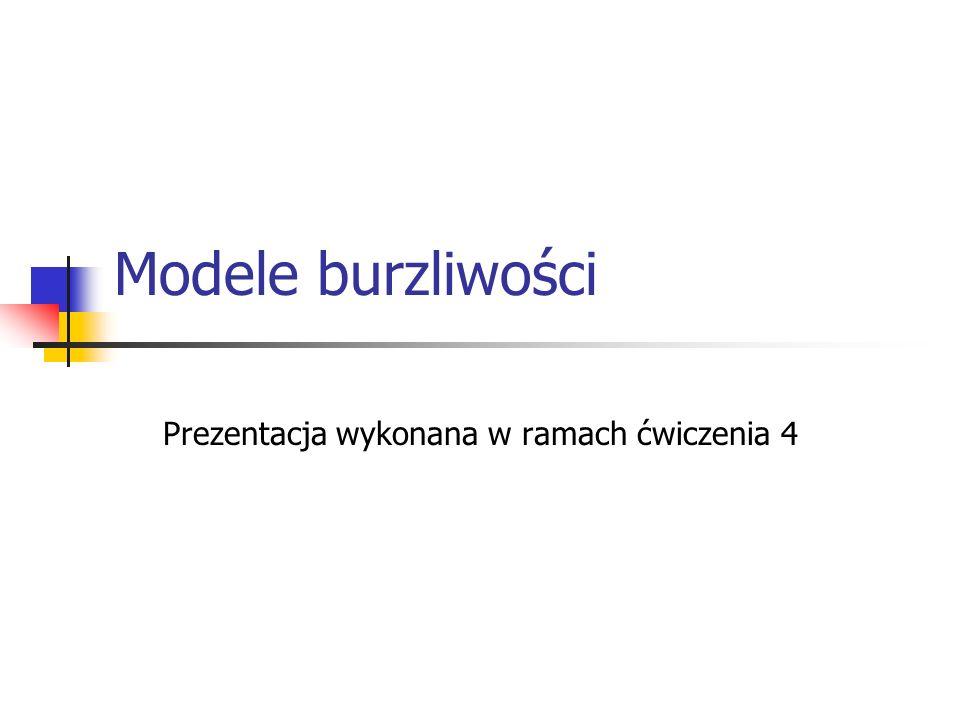 Modele burzliwości Prezentacja wykonana w ramach ćwiczenia 4