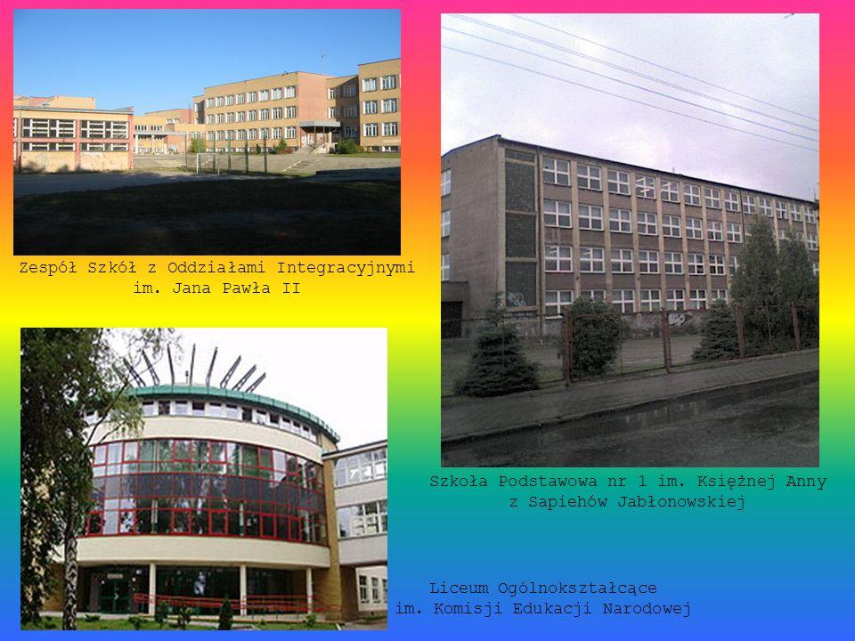 Zespół Szkół z Oddziałami Integracyjnymi im. Jana Pawła II Szkoła Podstawowa nr 1 im. Księżnej Anny z Sapiehów Jabłonowskiej Liceum Ogólnokształcące i