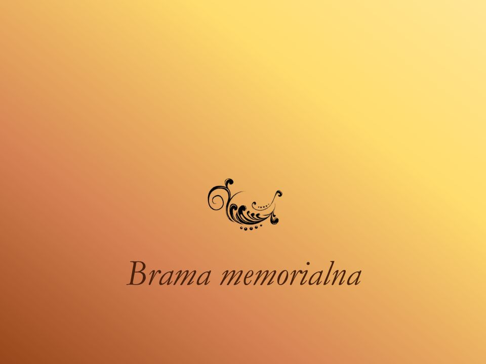 Brama memorialna
