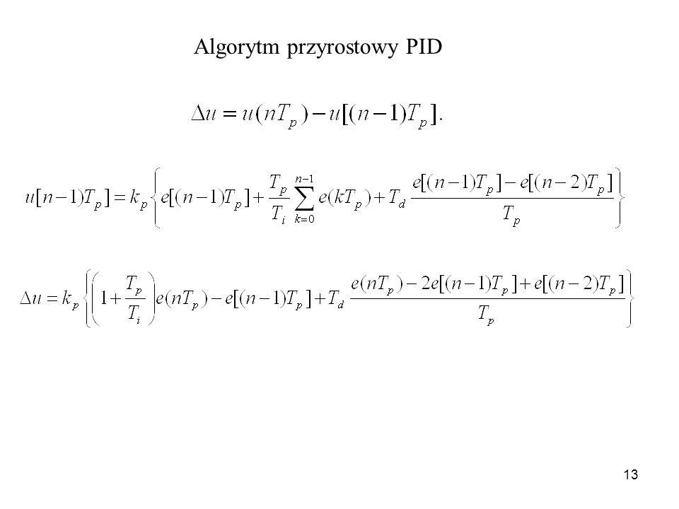 13 Algorytm przyrostowy PID
