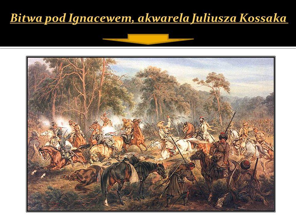 Bitwa pod Ignacewem, akwarela Juliusza Kossaka