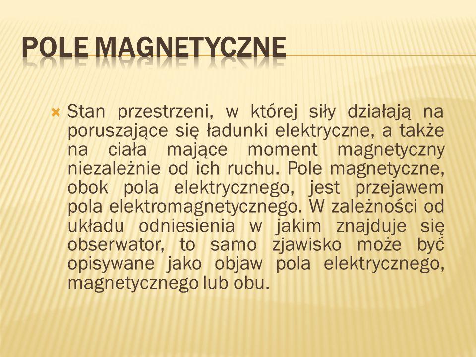 Obrazowo pole magnetyczne przedstawia się jako linie pola magnetycznego.