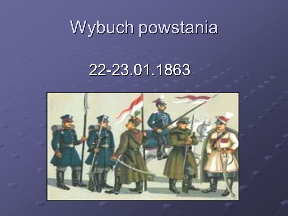 Wybuch powstania 22-23.01.1863