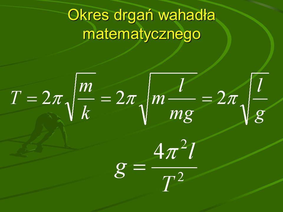 Okres drgań wahadła matematycznego