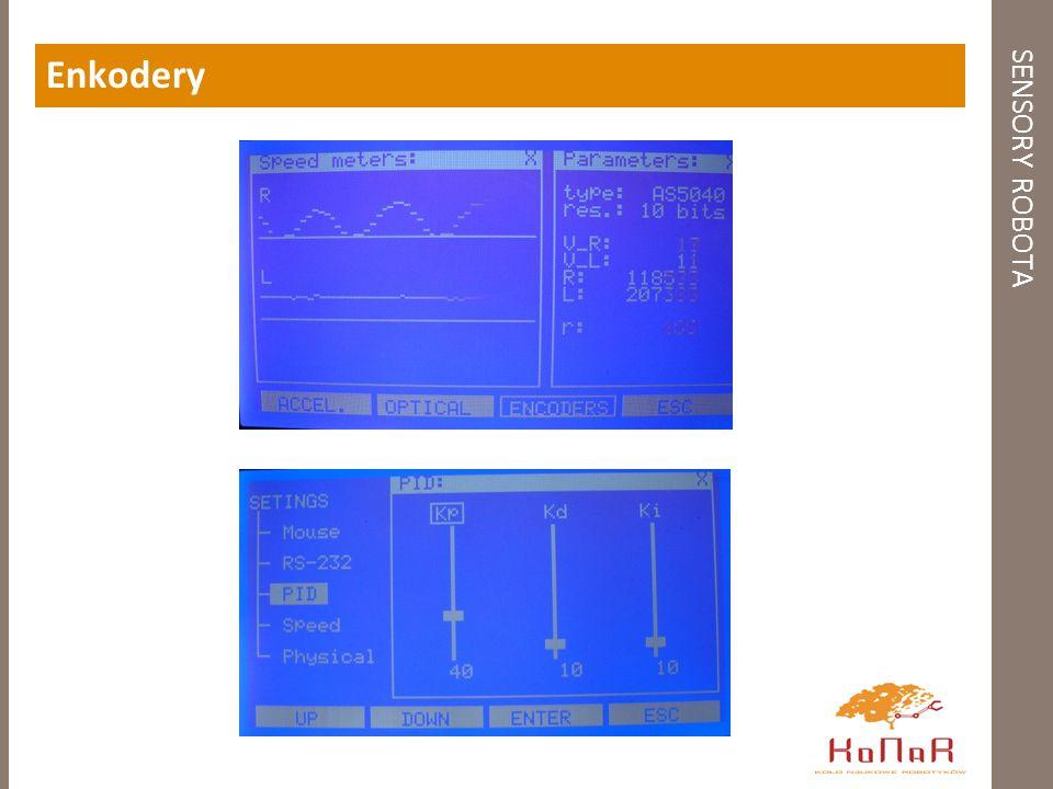 SENSORY ROBOTA Optyczny czujnik przemieszczenia - gotowe rozwiązanie Własności: - dopracowana metoda pomiarowa - konieczny kontakt sensora z podłożem - wysoka dokładność pomiaru - praca w trybie wyjść kwadraturowych