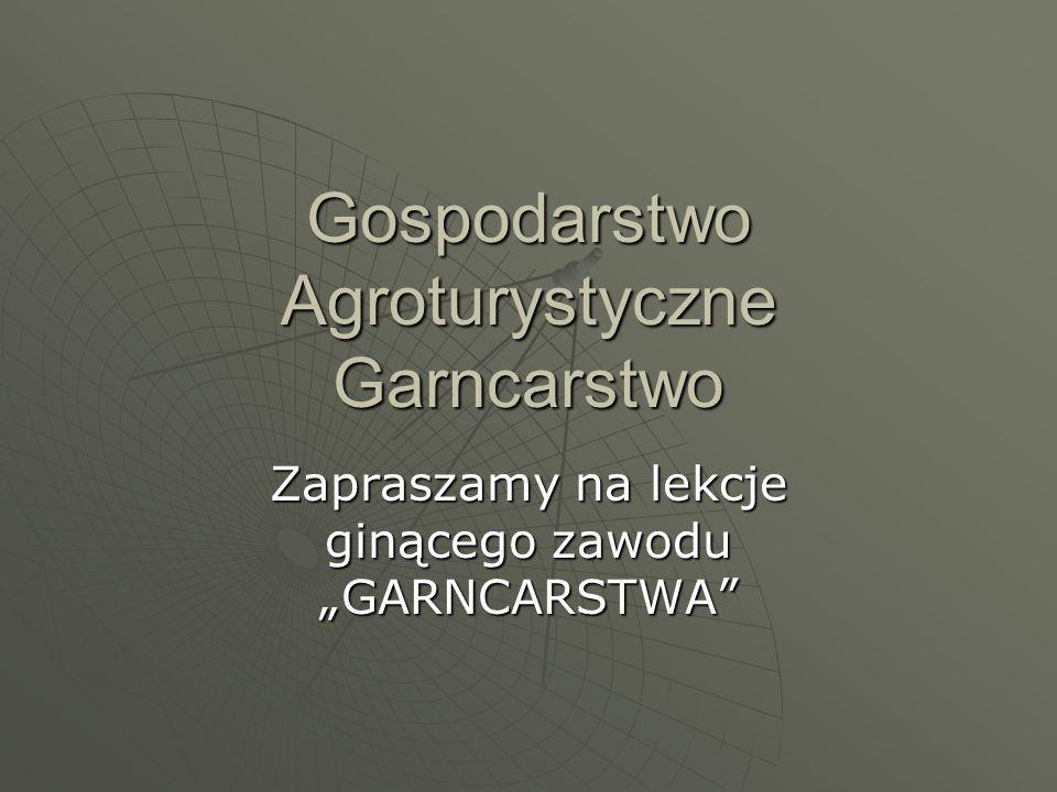 Gospodarstwo Agroturystyczne Garncarstwo Zapraszamy na lekcje ginącego zawodu GARNCARSTWA