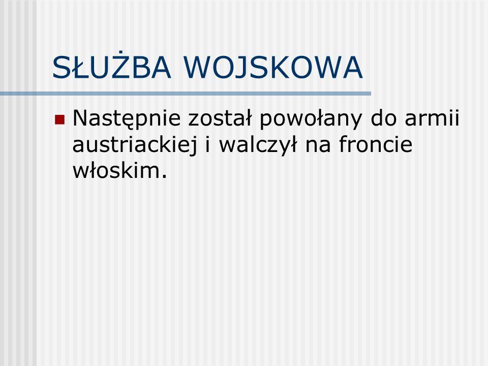 Po zakończeniu działań wojennych Henryk Sucharski powrócił do Gręboszowa, by w 1919 roku zaciągnąć się do wojska polskiego.