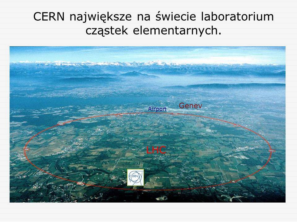 CERN największe na świecie laboratorium cząstek elementarnych. Genev Air port LHC