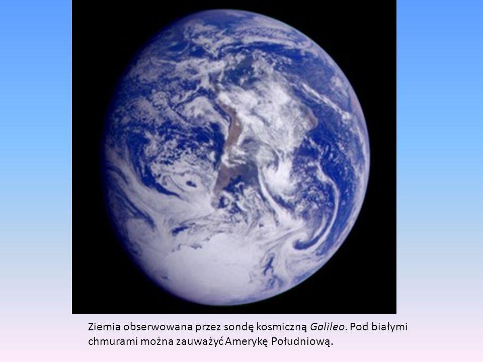 Ziemia obserwowana przez sondę kosmiczną Galileo.