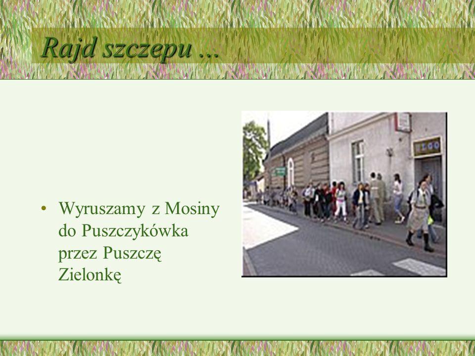 Rajd szczepu... Wyruszamy z Mosiny do Puszczykówka przez Puszczę Zielonkę
