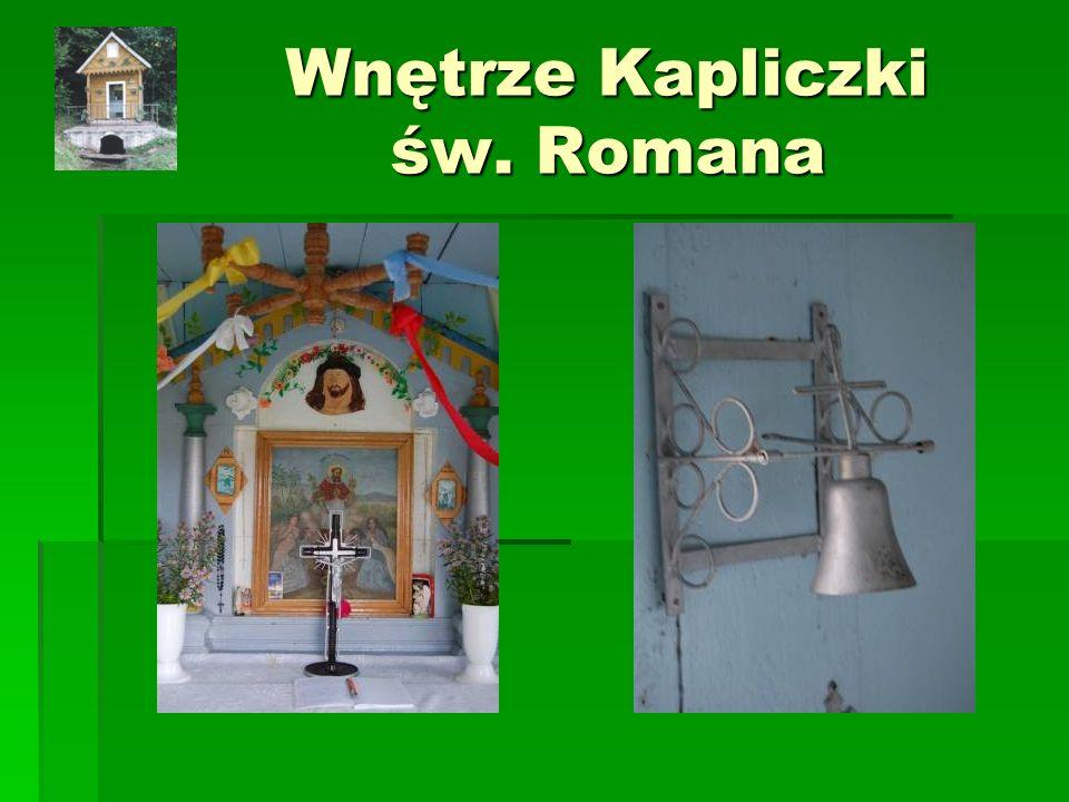Wnętrze Kapliczki św. Romana