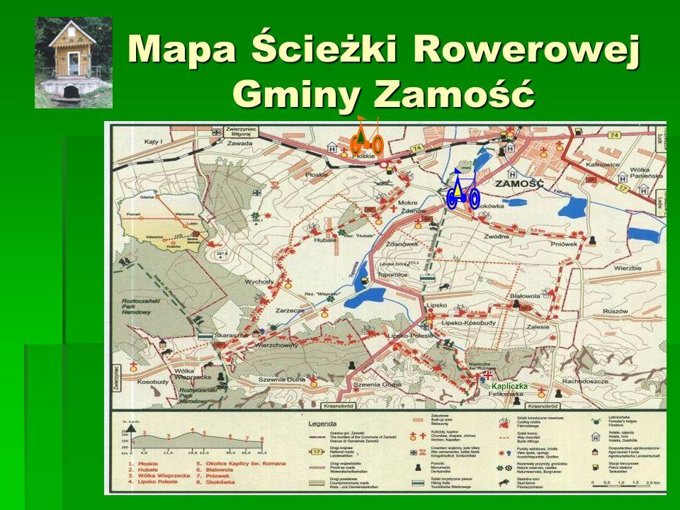 Mapa Ścieżki Rowerowej Gminy Zamość Kapliczka