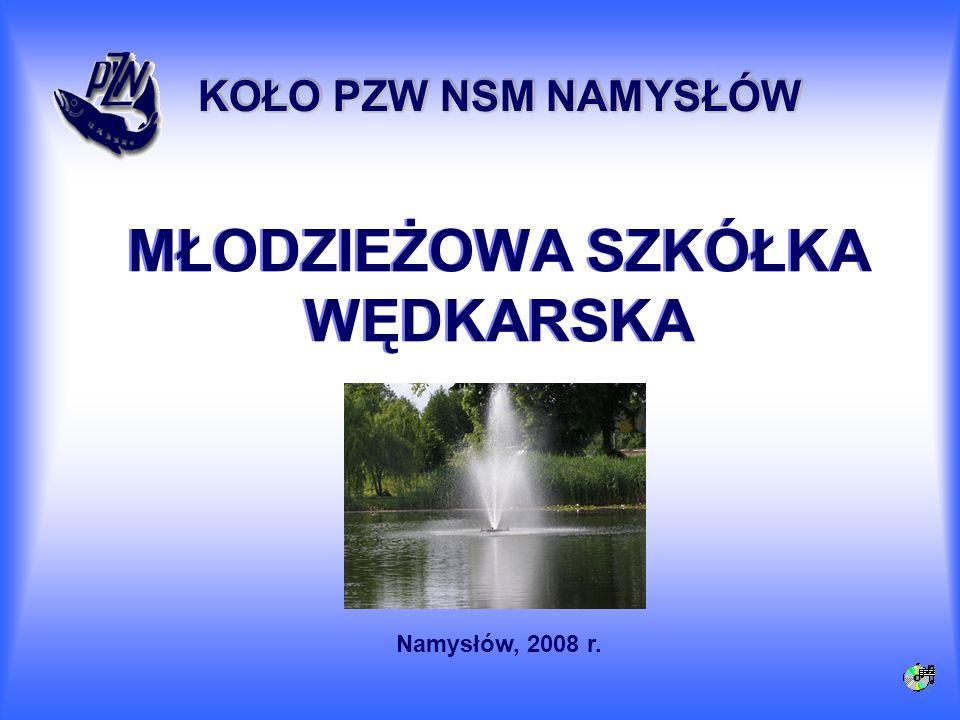 MŁODZIEŻOWA SZKÓŁKA WĘDKARSKA KOŁO PZW NSM NAMYSŁÓW Namysłów, 2008 r.