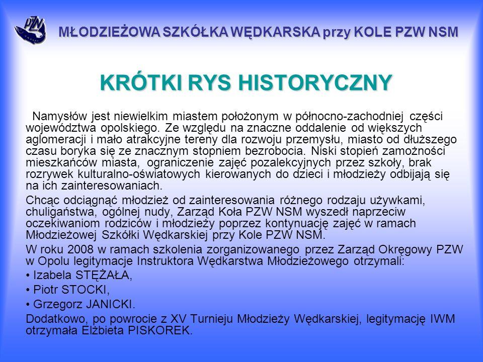 Uchwałą Zarządu Koła PZW NSM na potrzeby Młodzieżowej Szkółki Wędkarskiej zakupiono sprzęt wędkarski na łączną kwotę 1000 zł.