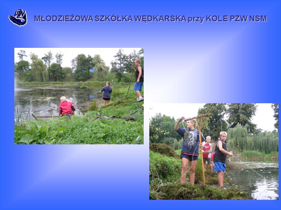 MŁODZIEŻOWA SZKÓŁKA WĘDKARSKA przy KOLE PZW NSM Na zbiorniku KLIMKÓWKA, dzięki uprzejmości gospodarzy tej wody tj.
