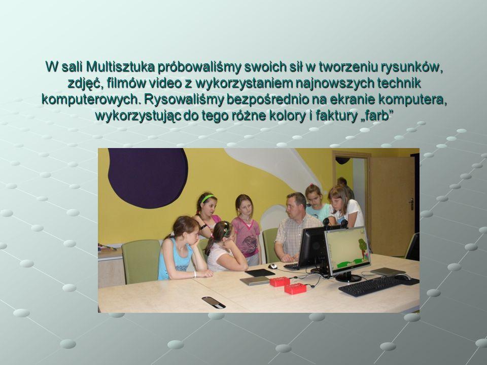 W sali Multisztuka próbowaliśmy swoich sił w tworzeniu rysunków, zdjęć, filmów video z wykorzystaniem najnowszych technik komputerowych. Rysowaliśmy b