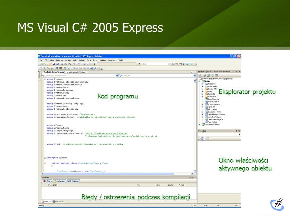 Wykorzystane biblioteki ScalablePictureBox ScalablePictureBox – ScalablePictureBox jest rozszerzeniem standardowej kontrolki PictureBox znanej z Visual C#.