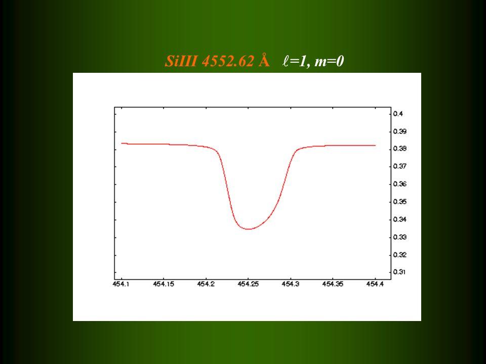 SiIII 4552.62 Å =1, m=0