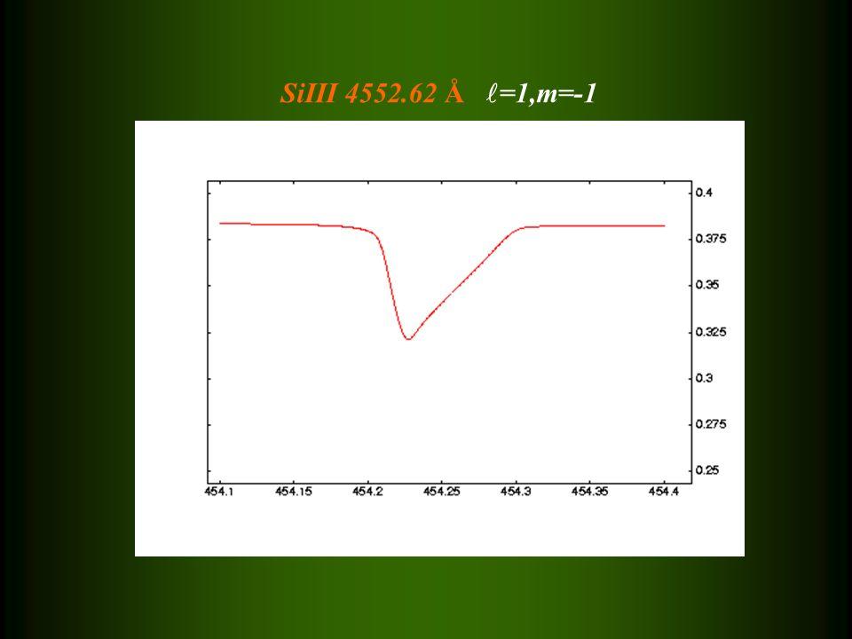 SiIII 4552.62 Å =1,m=-1