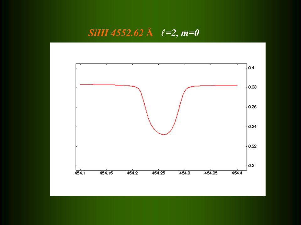 SiIII 4552.62 Å =2, m=0