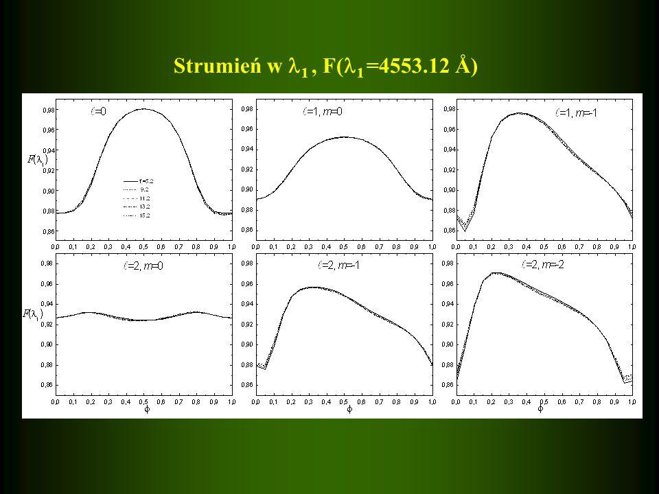 Strumień w 1, F( 1 =4553.12 Å)