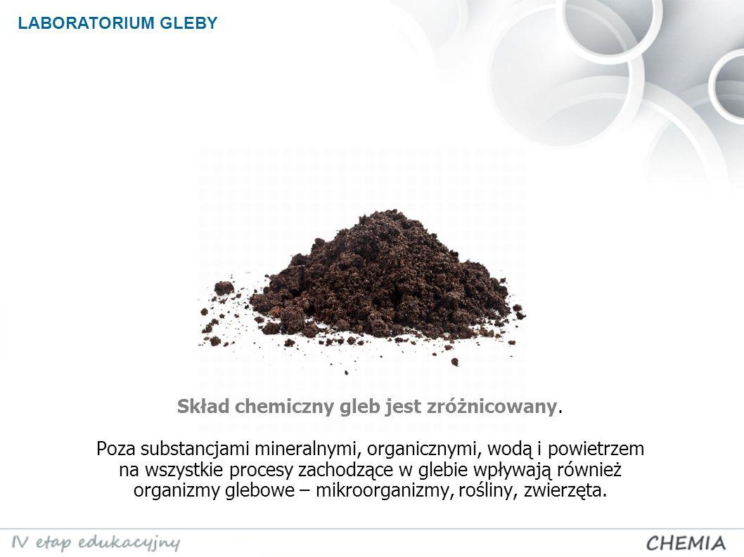 Skład chemiczny gleb jest zróżnicowany.
