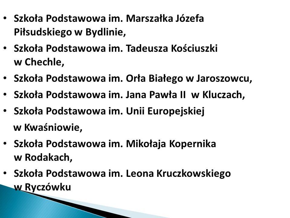Szkoła Podstawowa im. Marszałka Józefa Piłsudskiego w Bydlinie, Szkoła Podstawowa im. Tadeusza Kościuszki w Chechle, Szkoła Podstawowa im. Orła Białeg