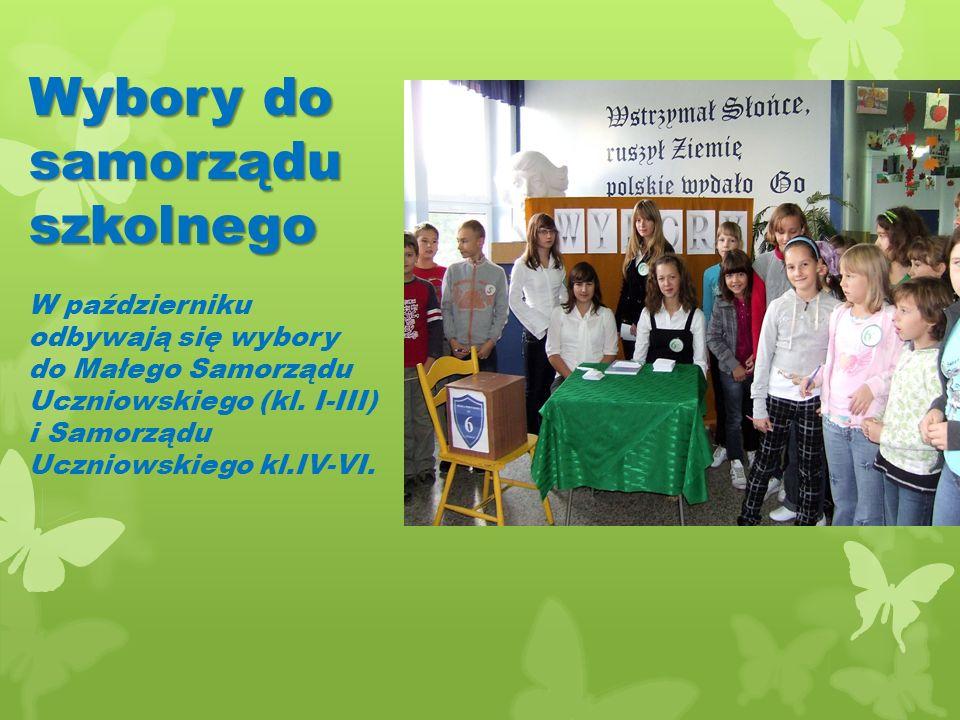 Wybory do samorządu szkolnego W październiku odbywają się wybory do Małego Samorządu Uczniowskiego (kl.