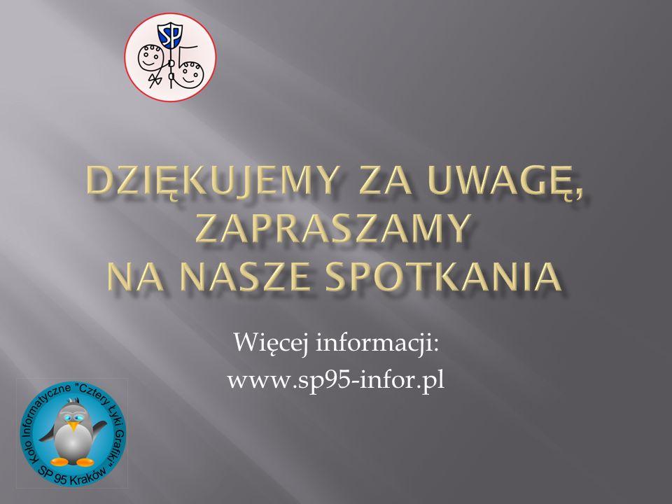 Więcej informacji: www.sp95-infor.pl