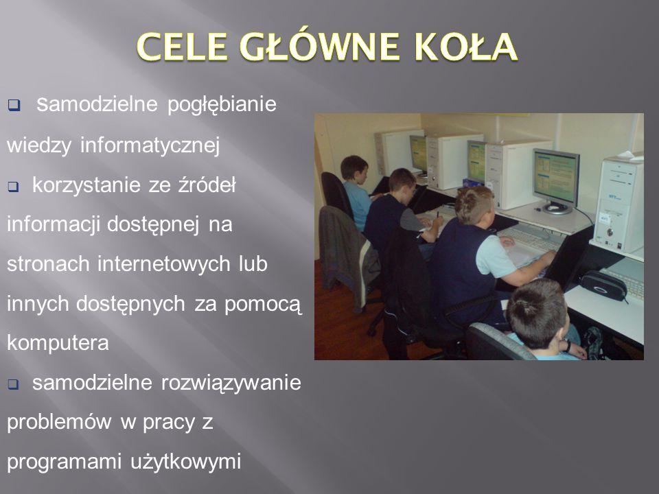 Znajdziemy tam założenia programu Cztery łyki grafiki i zachętę do uczestnictwa w zajęciach.