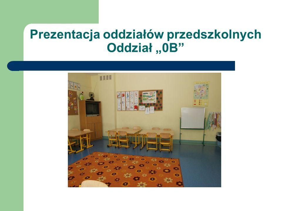 Prezentacja oddziałów przedszkolnych Oddział 0B