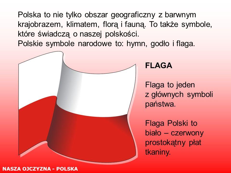 FLAGA Flaga to jeden z głównych symboli państwa.
