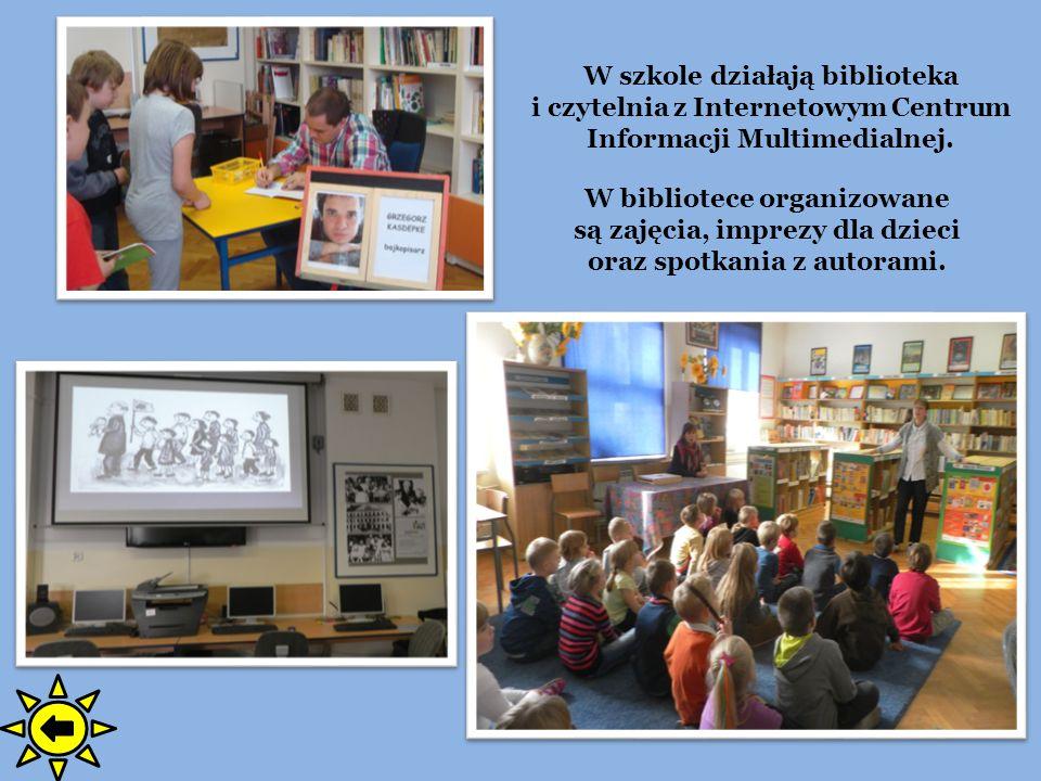 W szkole działają biblioteka i czytelnia z Internetowym Centrum Informacji Multimedialnej. W bibliotece organizowane są zajęcia, imprezy dla dzieci or