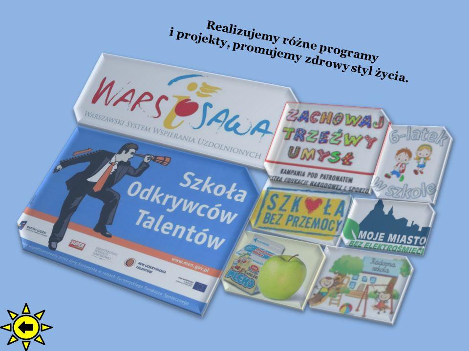 Realizujemy różne programy i projekty, promujemy zdrowy styl życia.