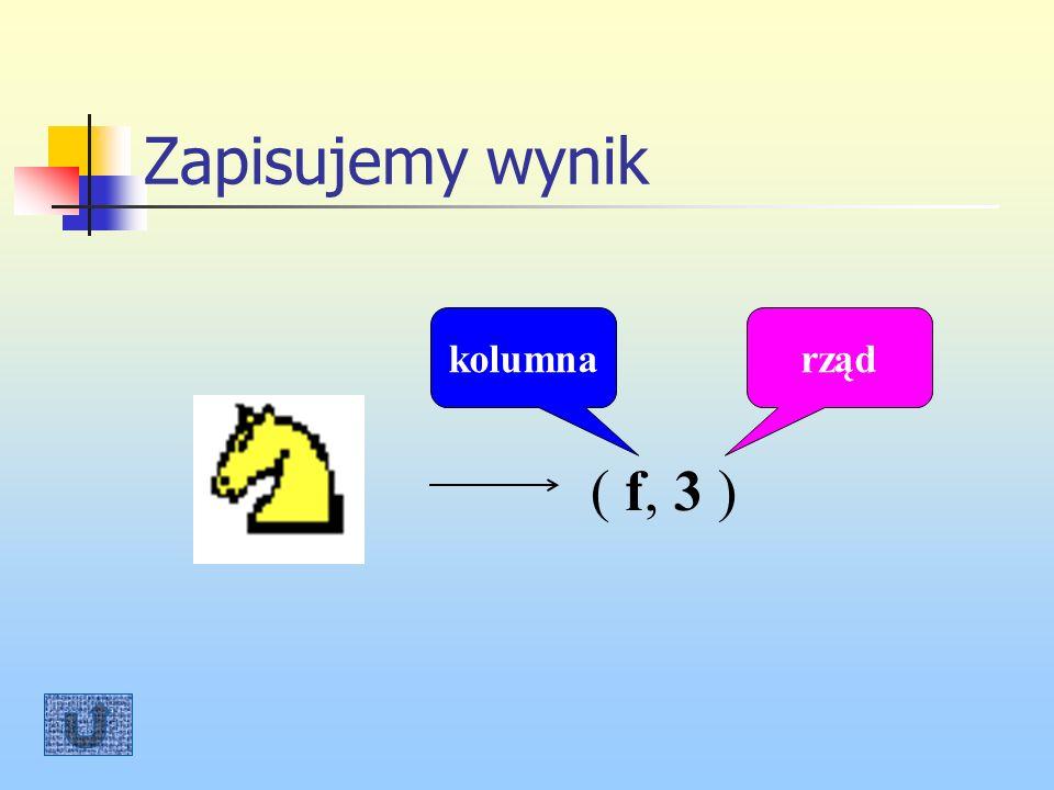 Zapisujemy wynik ( f, 3 ) rządkolumna